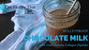 Move over bulletproof coffe, Bulletproof Chocolate Milk is where it's at! This recipe with good fats and high protein content uses Vital Proteins collagen peptides for a satisfying and kid-friendly morning beverage or afternoon snack!