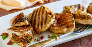 Gouda, Bacon and Basil Stuffed Pork Chops | The Family That Heals Together