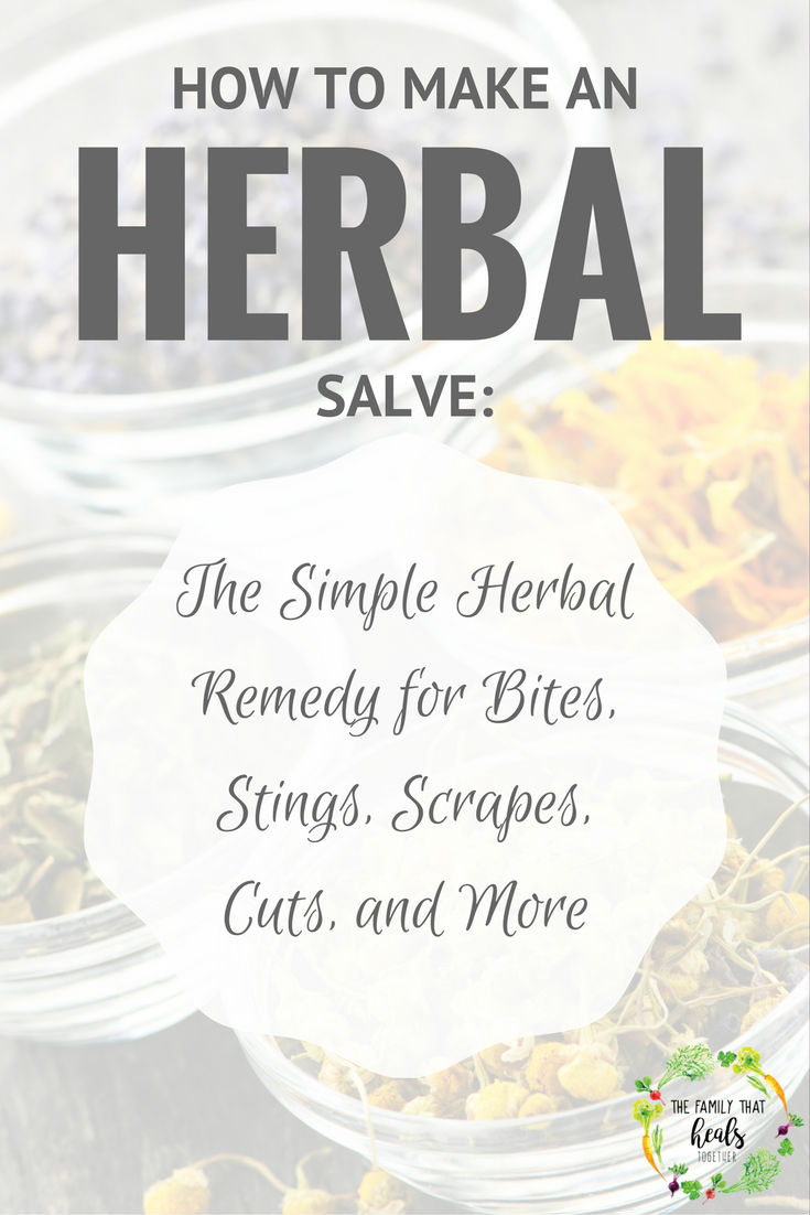 Soothing Salve Recipe: The Simple Herbal Remedy for Bites, Stings, Scrapes, Cuts, and More | The Family That Heals Together