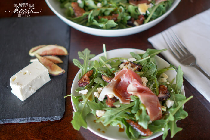 Roasted Fig Salad with Prosciutto and Feta | The Family That Heals Together